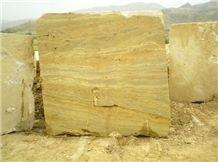 Elazig Gold Travertine Block, Turkey Yellow Travertine