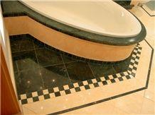 Verde Guatemala Marble Bathtub