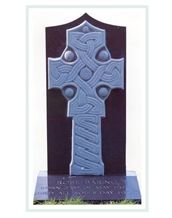 Cross Carved from Threecastles Limestone