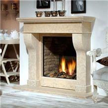 C-110 Fireplace in Caliza Alba Beige