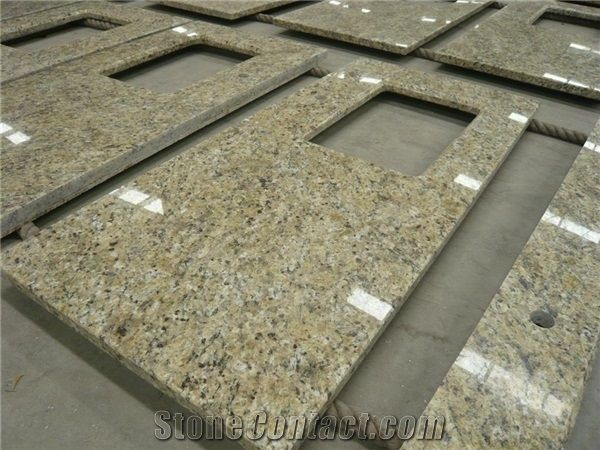 Attirant Giallo Imperial Countertops,Yellow,Gold Granite