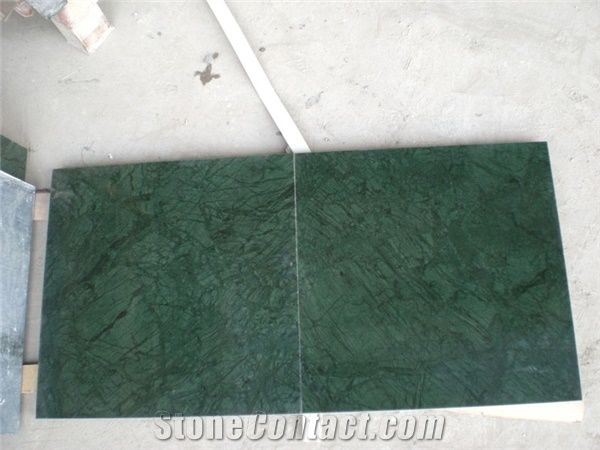 Indian Dark Green Marble Floor Tiles From China