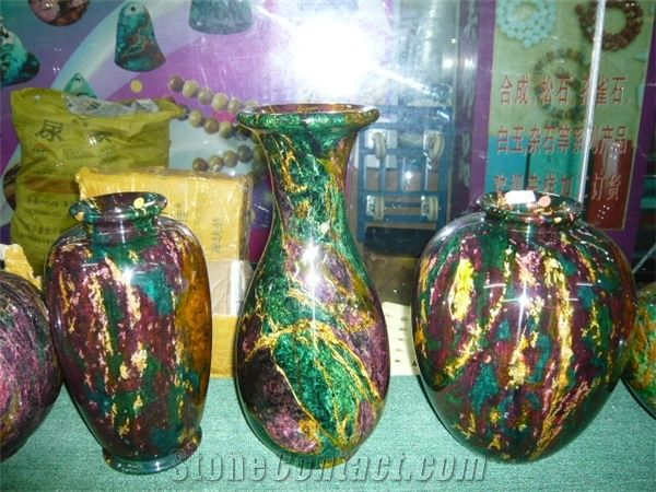Green Jadeite Vase From China Stonecontact