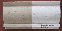 Ivory Travertine Tumbled Molding K7