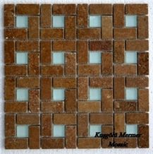 Noce Travertine Dark Mosaic K11