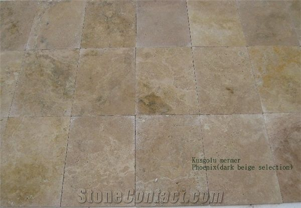 Phoenix Travertine Tiles Slabs Dark Beige Travertine Tiles