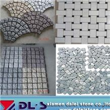 White Marble Polished Basketweave Mosaics, Grey Yellow White Red Granite Natural Split Face Pearl Shell Mosaic Tiles, Natural Building Stone Brick Shape, Indoor Interior Deocration Use, Factory