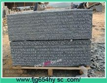 G654 China Black Granite Rough Picked