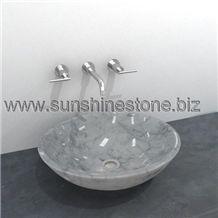 Carrara White Marble Sinks