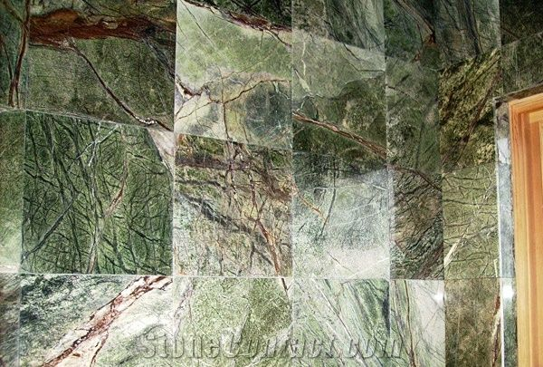 Rain Forest Green Marble Wall Tile From United States