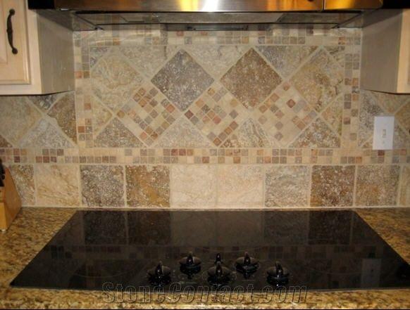 Travertine Kitchen Mosaic Backsplash From United States