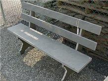 Grey Slate Bench