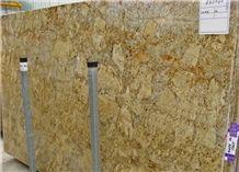 Golden Beach Granite Slabs, Brazil Yellow Granite