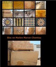 Marbre Marron Chemtou Marble Slabs & Tiles, Tunisia Yellow Marble