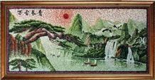 Pebble Mosaic Picture,Art Work