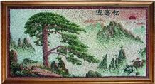 Pebble Stone Mosaic Picture,Art Work