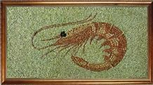 Pebble Stone Mosaic Picture,Art Works