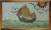 Pebble Stone Mosaic Picture Art Works
