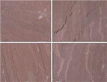 Dholpur Red Chocolate Sandstone Slabs, India Brown Sandstone