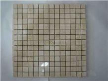 Beige Marble Brick Mosaic for Walling & Flooring