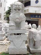 Grey Granite Carving Animal Sculpture