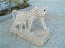 Yellow Granite Animal Sculpture