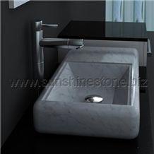 Carrara Art Stone Sink