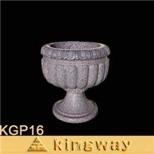 Beige Granite Flowerpot