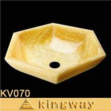 Honey Onyx Sinks, Basins