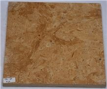 Ivory Gold Limestone Slabs & Tiles, Fossil Gold Limestone