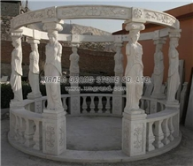 White Marble Gazebo 015, Marble Bower