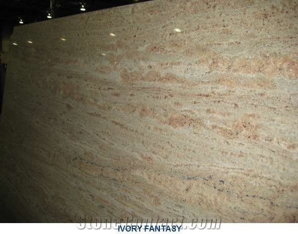 Ivory Fantasy Granite Slabs India Yellow Granite Aapt