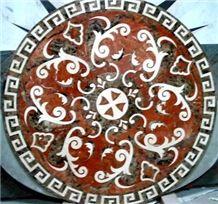 Marble Pattern Mosaics Stone Medallions