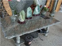 Rectangle Marble Table Top, Green Marble Tables