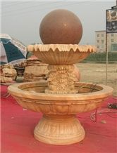 Sandstone Carved Water Fountain