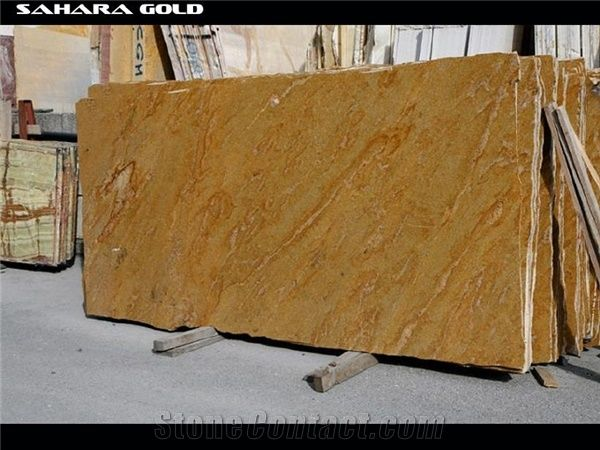 India Sahara Gold Granite Slabs From United States