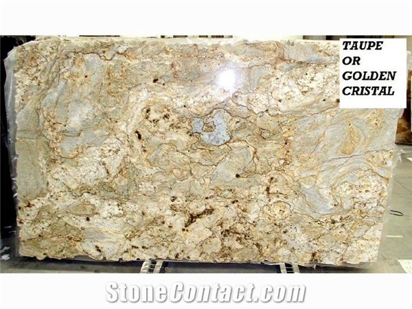 Taupe Golden Cristal Granite Slabs From United States