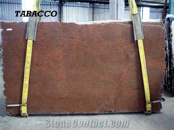 Tobacco Red Granite Slab Brazil Brown Granite From United
