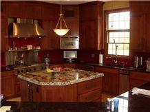 Yellow Granite Kitchen Design