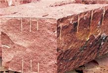 Qingshan Red Granite Blocks