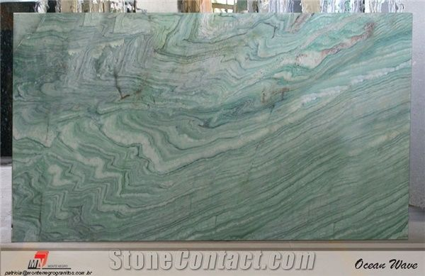 Ocean Wave Quartzite Slab Brazil Green Quartzite From