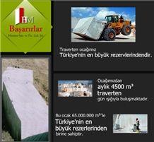 Bucak Travertine Blocks, Turkey Beige Travertine