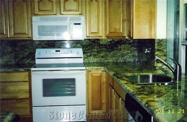 Good Verde Butterfly Granite Countertop