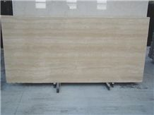 Travertine Chiaro Travertine Slab, Italy Beige Travertine