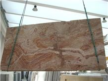 Travertino Oniciato Rosa Slab
