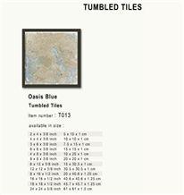 Oasis Blue Tumbled Tiles