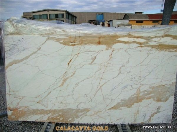 Calacatta Gold Marble Slab Italy White Marble 47495