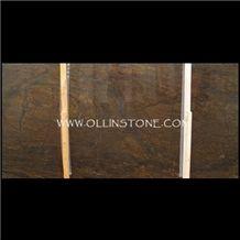 Bronzite Exotic Granite Polished Slabs, Brazil Brown Granite