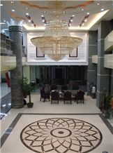 Project Design,marble Mosaic,dark Green Granite