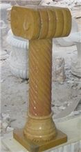 Yellow Marble Pedestal Column